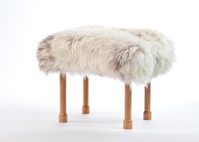 Megan Sheepskin Footstool Rare Breed