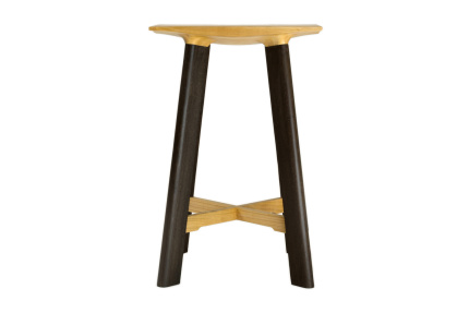 LE1 Low Stool Fumed Oak Legs, Cherry Seat