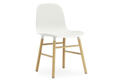 Form Chair Oak, White
