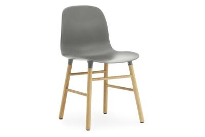 Form Chair Oak, Grey
