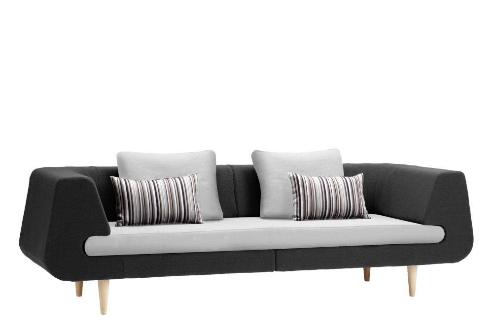 Mirage 3 Seater Sofa Black and Light Grey