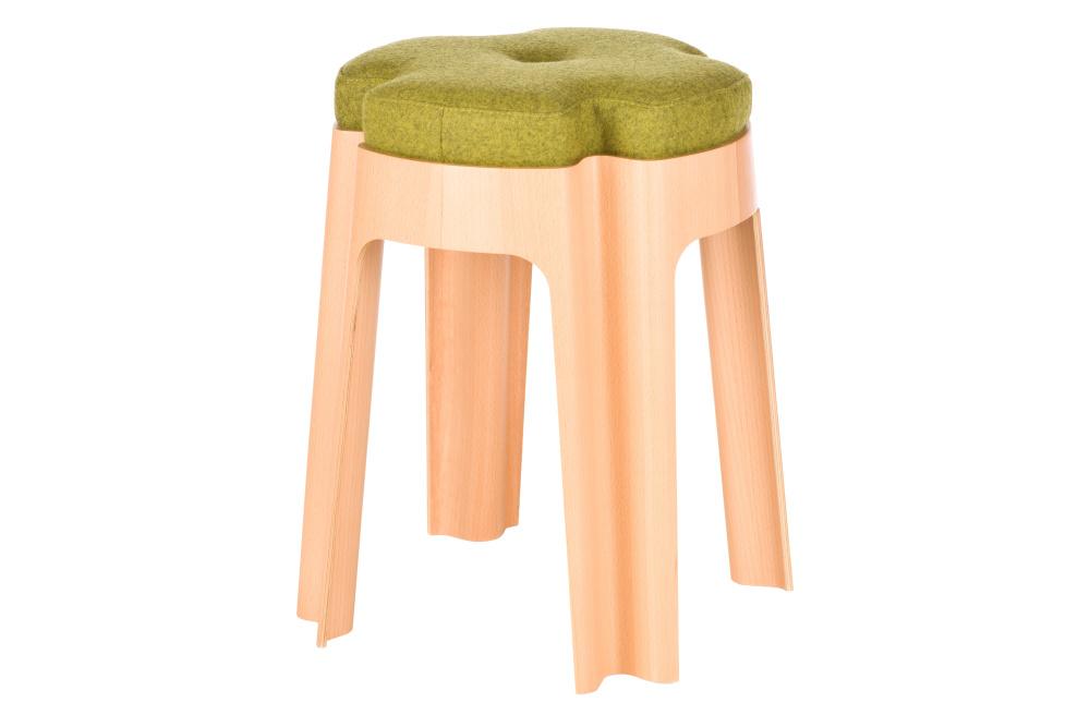 Bloom Upholstered Stool Green