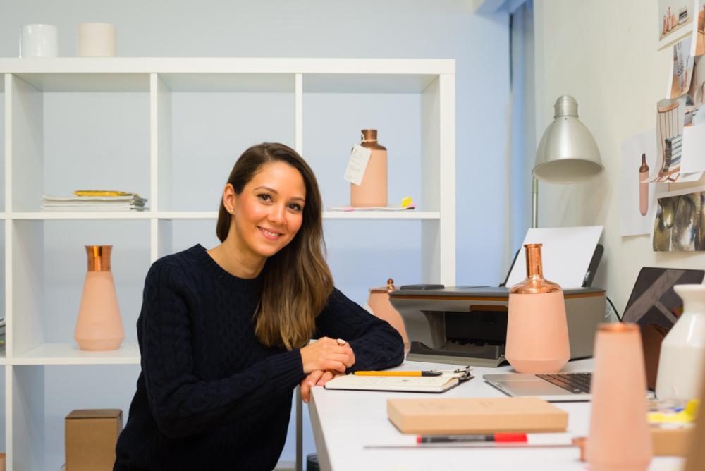 Hend's design studio is based in east London
