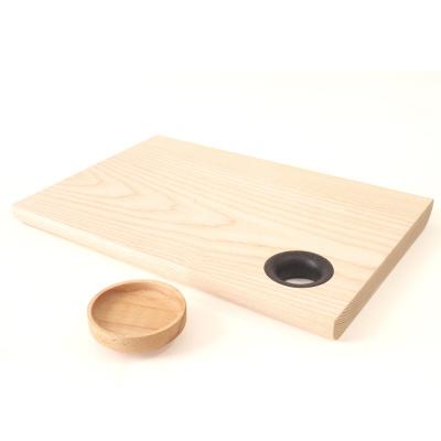 Chopping Board Charred Oak Ring, Medium