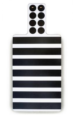 Stripes Cutting Board  Black