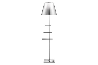 Bibliotheque Nationale Floor Lamp Aluminized Silver