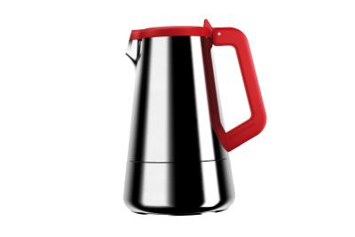 Caffeina Coffee Machine 4 Cups, Red