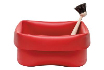 Washing-up Bowl & Brush Red