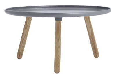 Tablo Round Coffee Table Grey Top, Ash legs, Large