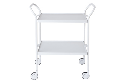 Two Tier Modern Trolley Silver