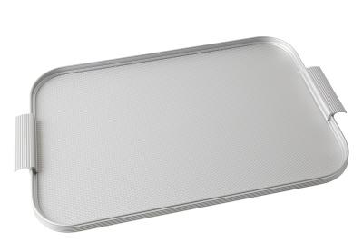Ribbed Tray Silver, 18 Inch