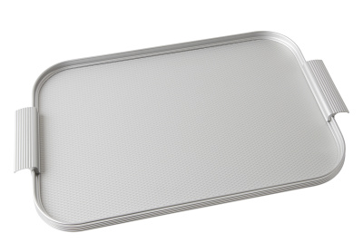 Ribbed Tray Silver, 16 Inch