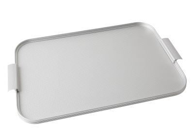 Ribbed Tray Silver, 20 Inch