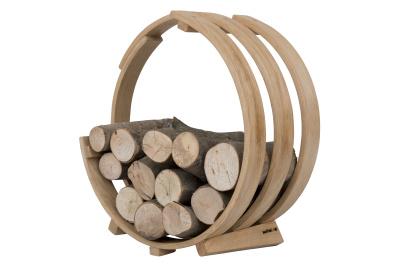 Log Loop Wood Basket Standard