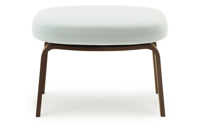 Era Footstool with Wooden Legs White