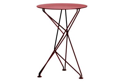 Fractal Side Table Red Stove Enamel
