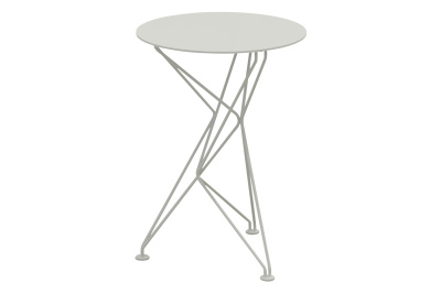 Fractal Side Table White Stove Enamel