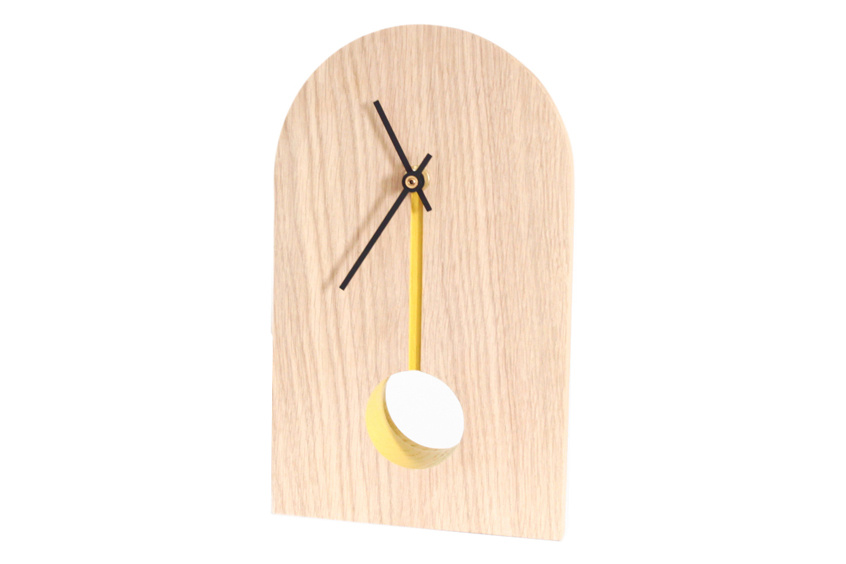 inwood table clock mustard by inoow design. Black Bedroom Furniture Sets. Home Design Ideas