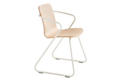 Cobra Dining Chair Oak and Oyster White