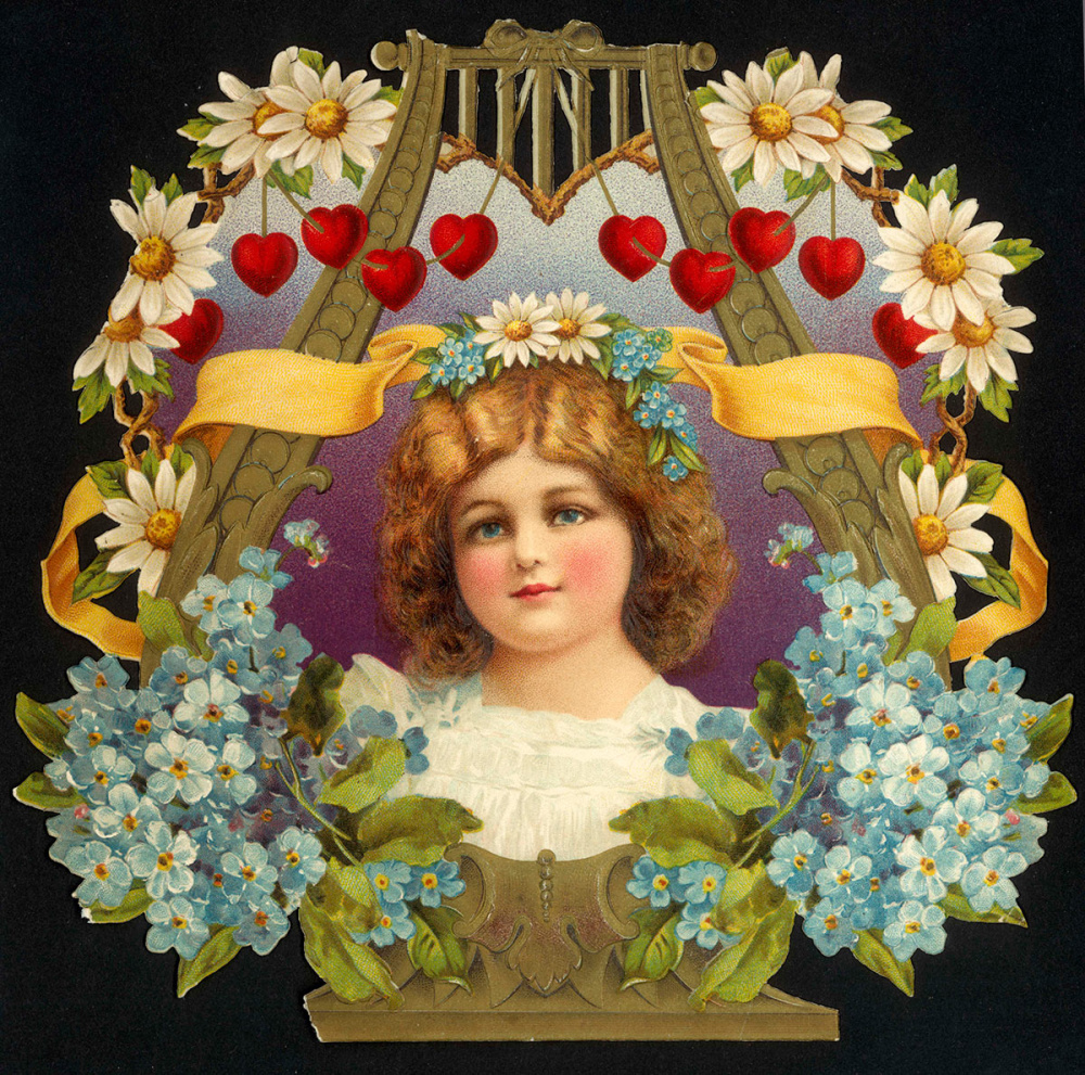 The Image from the Victorian Valentines card