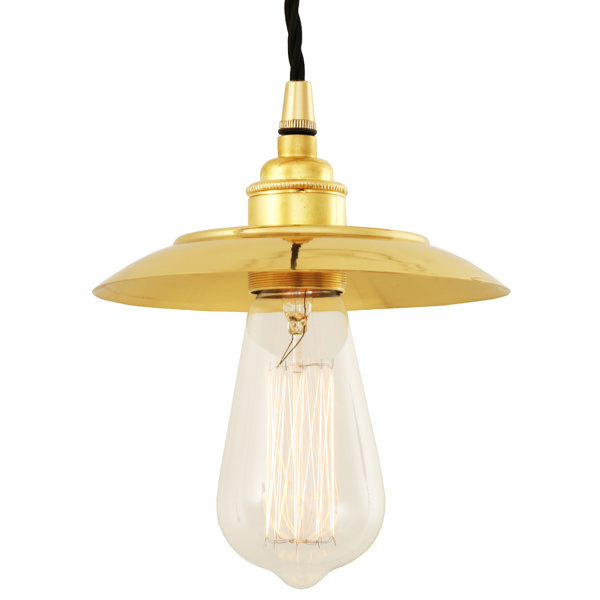 Reznor Industrial Pendant Light Polished Brass
