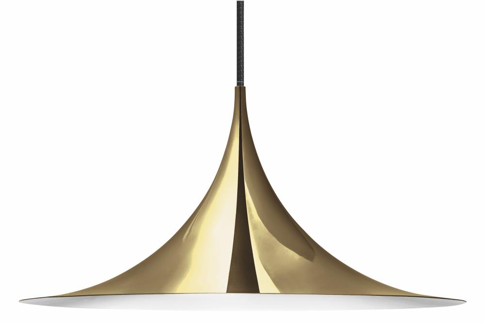 Semi Pendant Light Brass, Medium