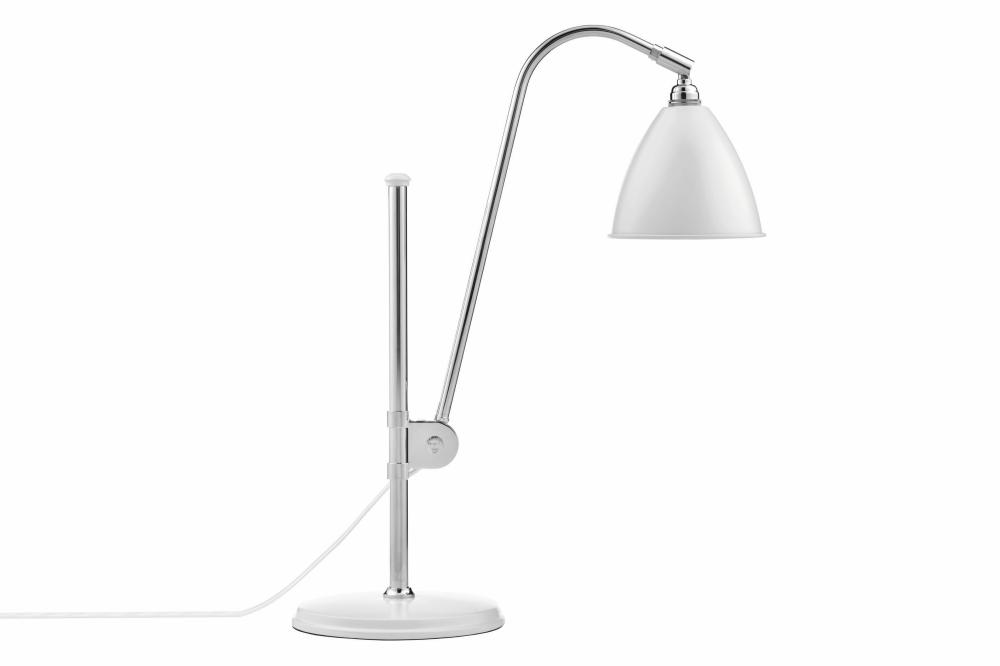 Bestlite BL1 Table Lamp Matt White and Chrome