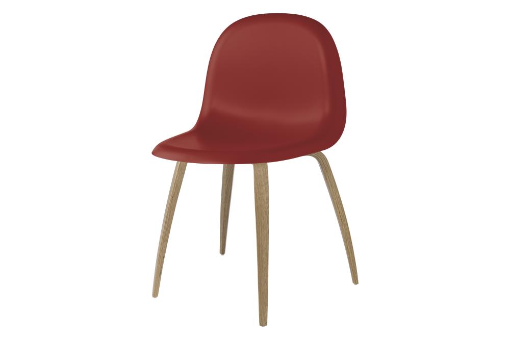 3D Wood-base Dining Chair Shy Cherry, Oak Frame