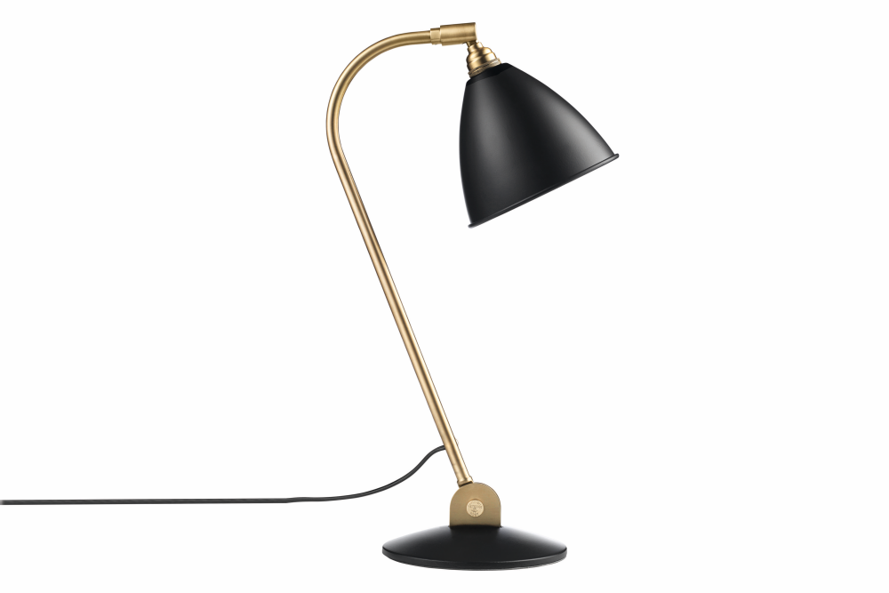 Bestlite BL2 Table Lamp Charcoal Black and Brass