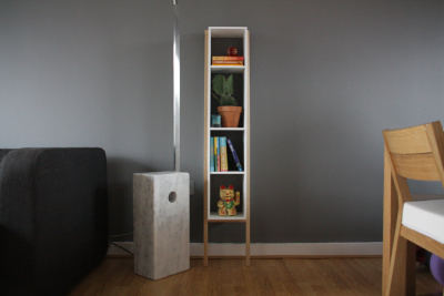 Lean Man Shelves White