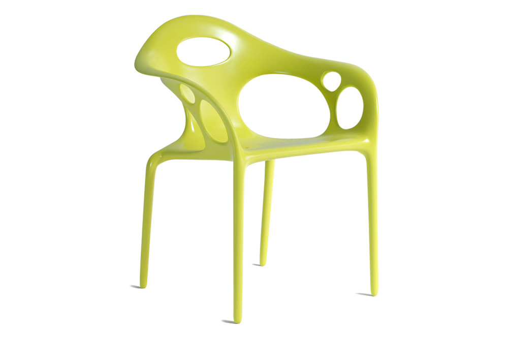 Supernatural Set of 4 Small Armchairs White/Fluo Green