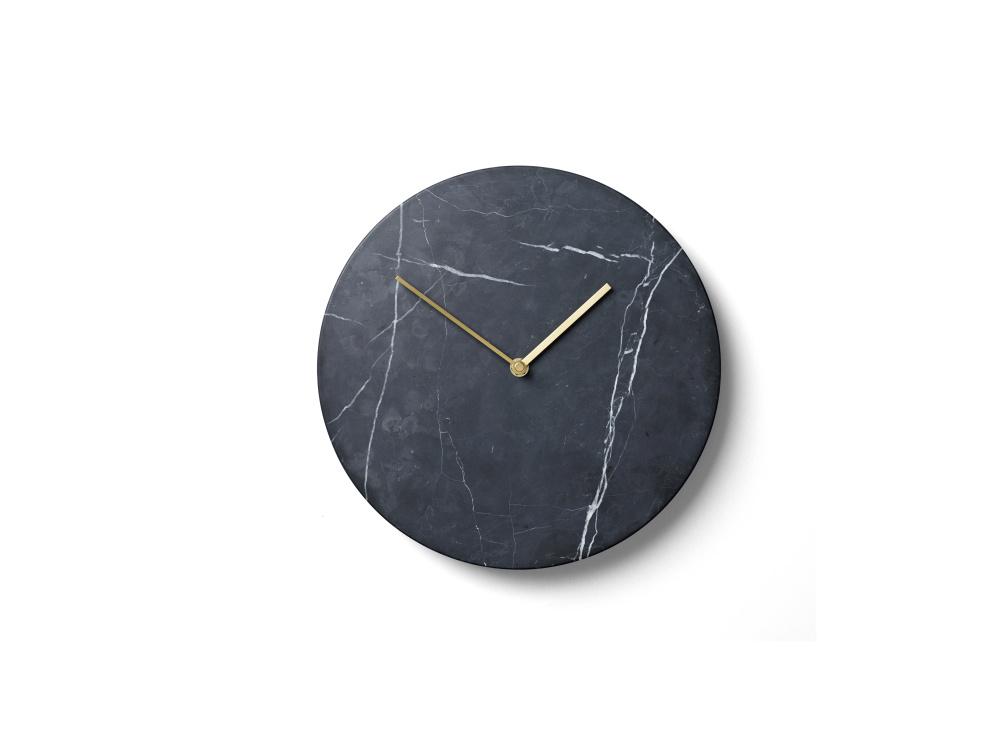 Marble Wall Clock Black