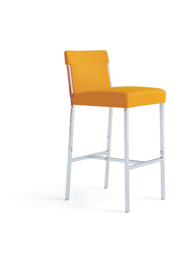 Steel Bar Stool A4500 - Art.48045 - 206 beige, Oxidored Base