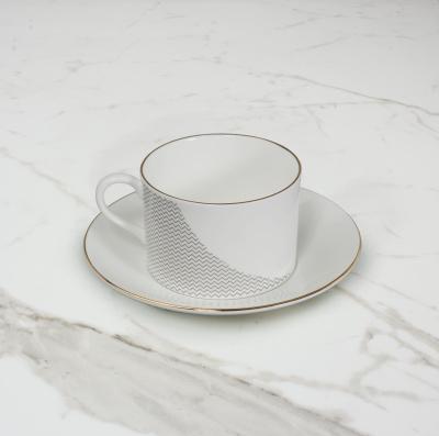 Curve Teacup & Saucer No. 1