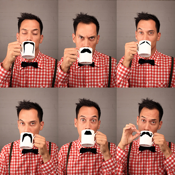 The Original Moustache Mug!
