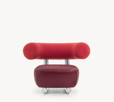 Pipe Armchair A4500 - Art.48045 - 206 beige, Shiny Red