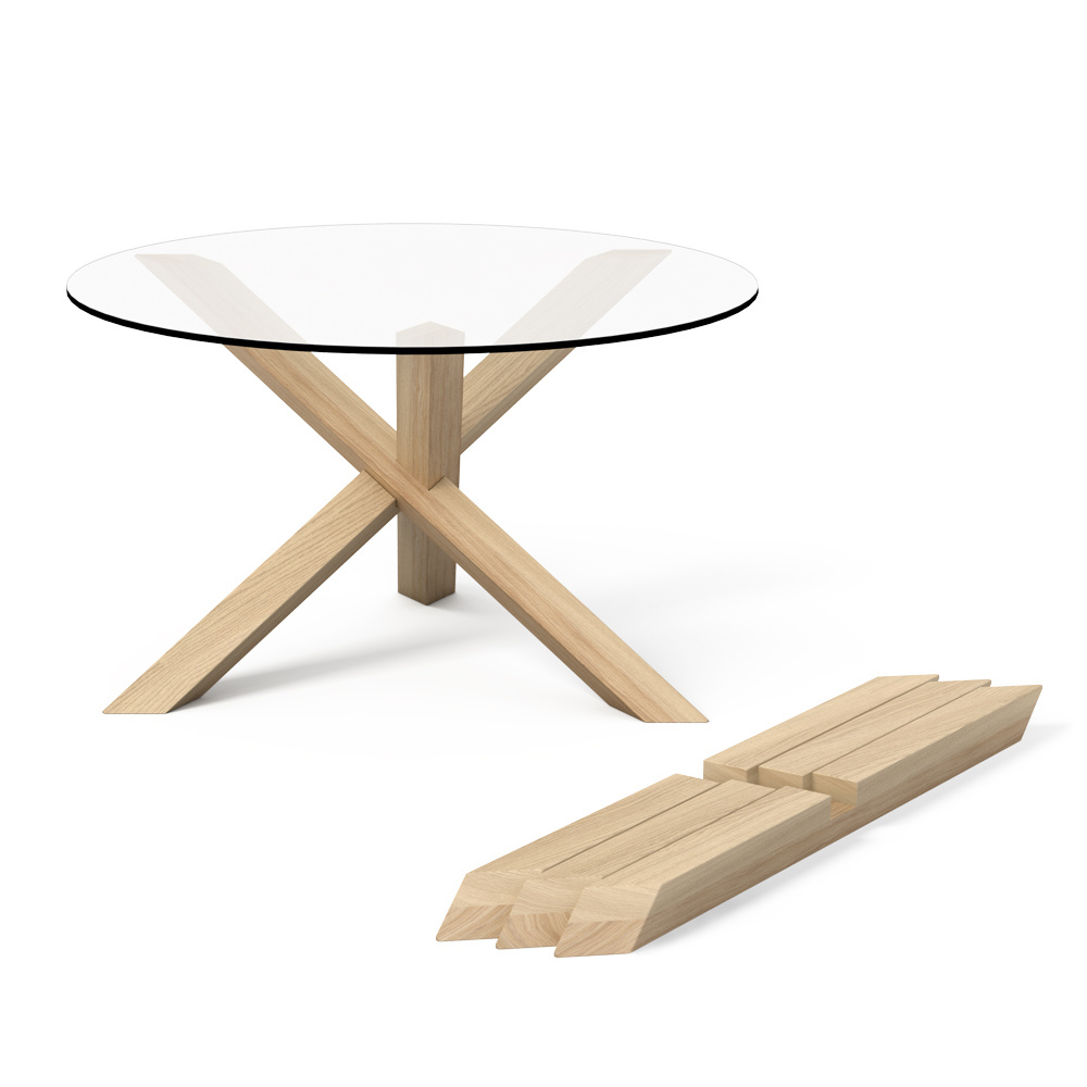 1 3 Puzzle Coffee Table Oak By Praktrik