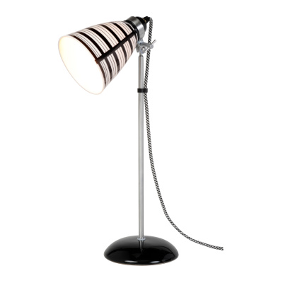 Circle Line Medium Table Lamp Natural White and Black