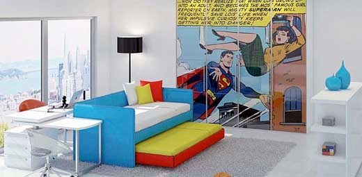 comic book themes for kids 39 rooms