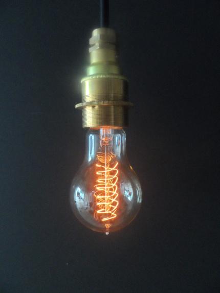 Vintage Spiral Lightbulb
