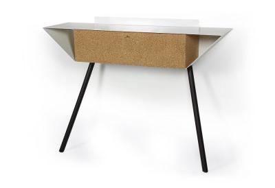 """Leaning sideboard """"Anlehnschrank 02 - Cork"""" Black beech wood legs"""