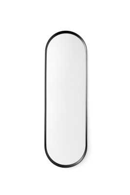 Norm Oval Mirror Black