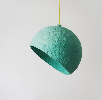Globe Turuoise paper pulp lamp Globe Turquoise