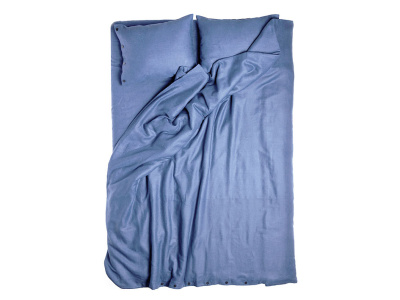 Serenity blue linen duvet cover Single 140x200cm
