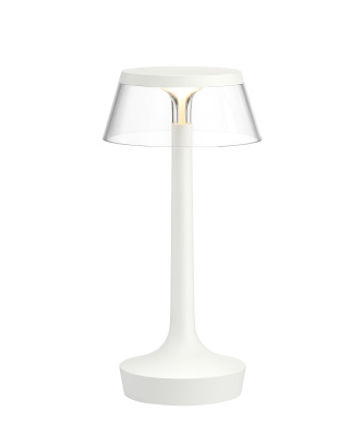 Bon Jour Unplugged Table Lamp White