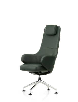 Grand Conference Lowback, Leather L40, felt glides for hard floor