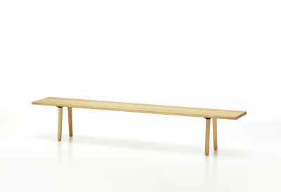 Wood Bench 450x2000x410 mm, solid oak natural oiled