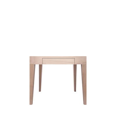 Cubo Square Table With Drawer Oak, Oak