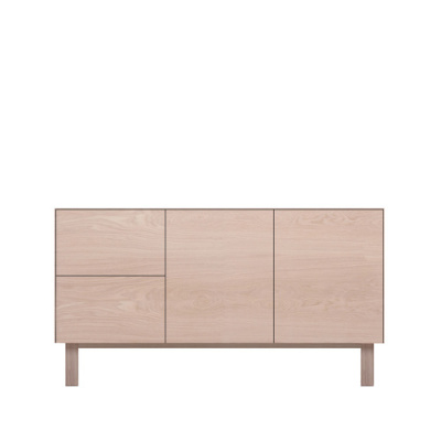 Sideboard 2 Doors & 2 Drawers Oak, Oak