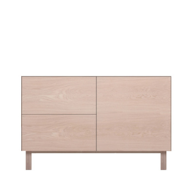 Rectangular Cabinet 1 Door & 2 Drawers Oak, Oak